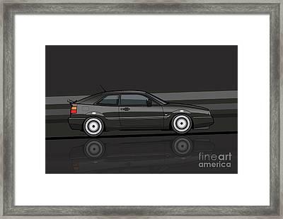 Corrado Black Stripes Framed Print by Monkey Crisis On Mars