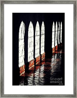 Corridor At Union Theological Seminary Framed Print