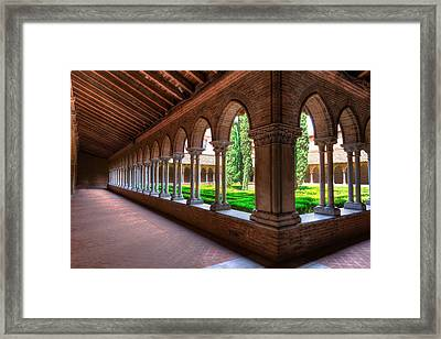 Corridor Insde Eglise Des Jacobins Or Church Of The Jacobins Framed Print