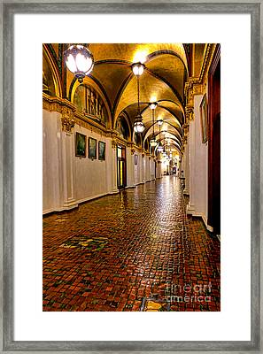 Corridor Of Power In Harrisburg Framed Print by Olivier Le Queinec