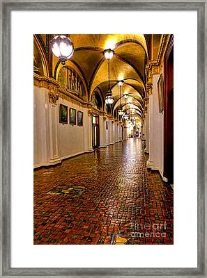 Corridor Of Power In Harrisburg Framed Print