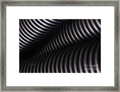 Corrugated Drain Pipe Shadow Framed Print