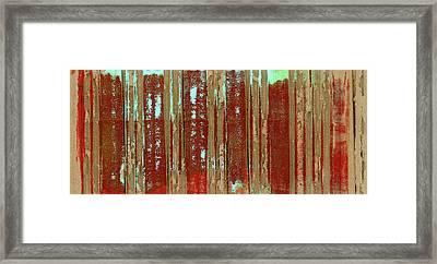 Corrugation Framed Print by Carol Leigh