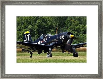 Framed Print featuring the photograph Corsair Close-up by Peter Chilelli