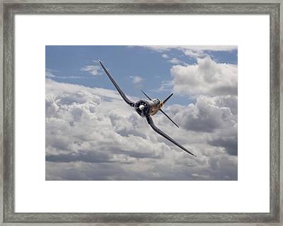 Corsair F4u-n Framed Print by Pat Speirs