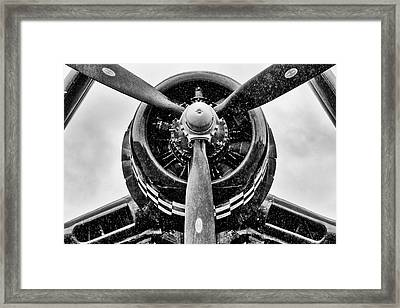 Corsair In Heavy Rain Framed Print