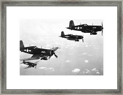 Corsair Planes  Us Airforce Framed Print by American School