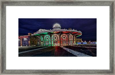 Carousel House Framed Print by American Image Bednar