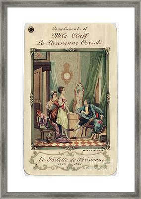 Corset Trade Card, 1912 Framed Print by Granger