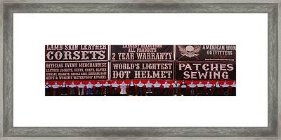 Corsets For Sale Framed Print
