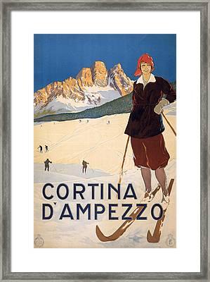 Cortina D'ampezzo Poster Framed Print
