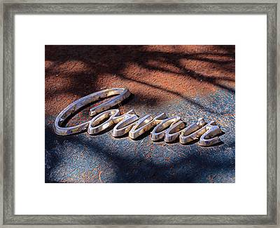Corvair Emblem Framed Print
