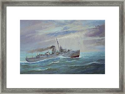 Framed Print featuring the painting Corvette 1943 by Mike Jeffries