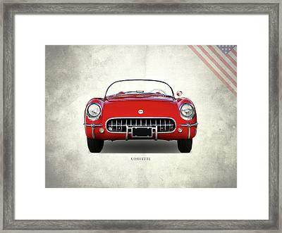 Corvette 1954 Front Framed Print by Mark Rogan