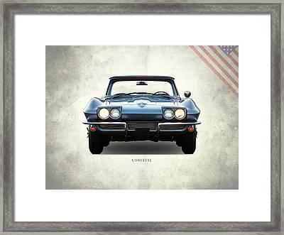 Corvette 1964 Front Framed Print by Mark Rogan