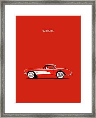 Corvette 57 Framed Print by Mark Rogan