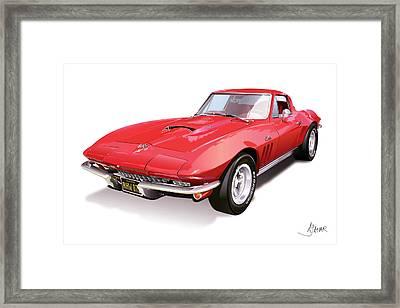 Corvette Framed Print by Alain Jamar