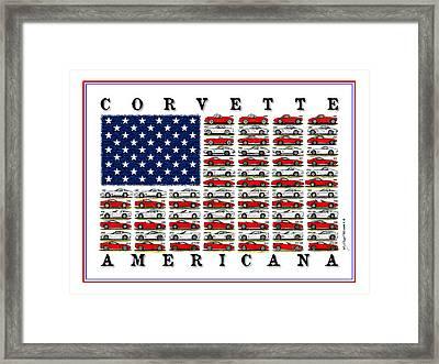 Corvette Americana Framed Print