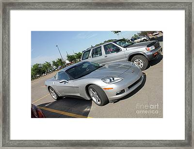 Corvette At The Bmo Framed Print by Donna Munro