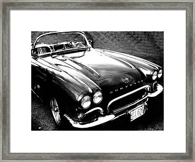 Corvette Framed Print by Audrey Venute