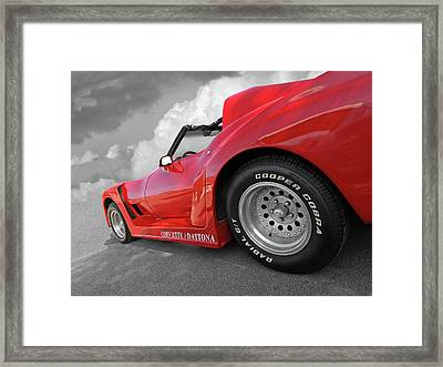 Framed Print featuring the photograph Corvette Daytona by Gill Billington