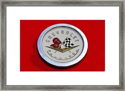 Corvette Emblem Framed Print
