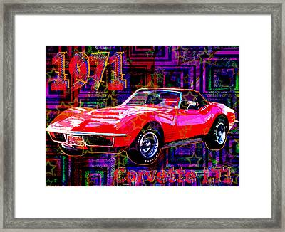 Corvette Lt1 Framed Print