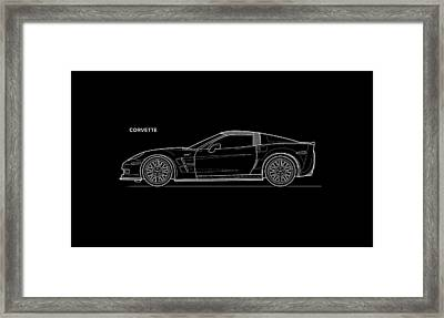 Corvette Phone Case Framed Print
