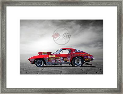 Corvette Profile Framed Print by Peter Chilelli