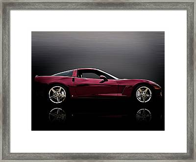 Corvette Reflections Framed Print