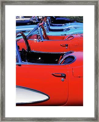 Corvette Row Framed Print