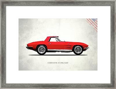 Corvette Stingray 1964 Framed Print by Mark Rogan