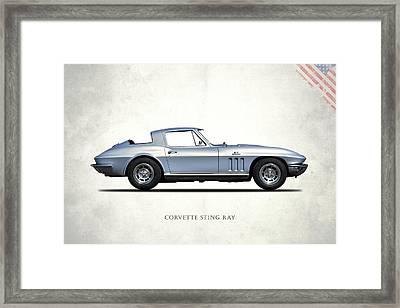 Corvette Stingray 1966 Framed Print by Mark Rogan