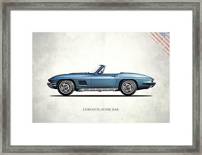 Corvette Stingray 1967 Framed Print by Mark Rogan