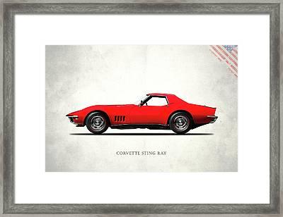 Corvette Stingray 1968 Framed Print by Mark Rogan
