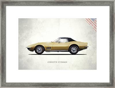 Corvette Stingray 1969 Framed Print by Mark Rogan