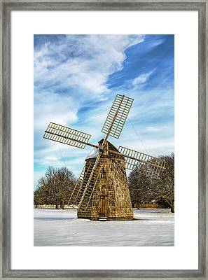 Framed Print featuring the photograph Corwith Windmill Long Island Ny Cii by Susan Candelario