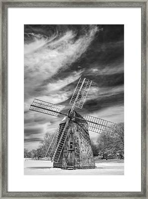 Corwith Windmill Long Island Ny II Framed Print by Susan Candelario
