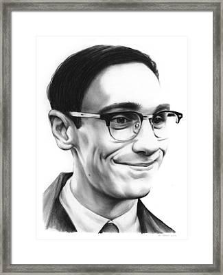 Cory Michael Smith Framed Print by Greg Joens