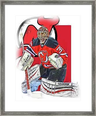 Cory Schneider New Jersey Devils Oil Art Framed Print by Joe Hamilton