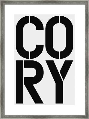Cory Framed Print by Three Dots