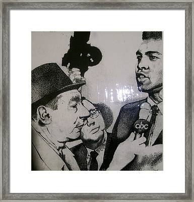Cosell And Clay Framed Print