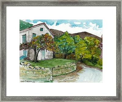 Framed Print featuring the painting Cosica Italy by Lynn Babineau