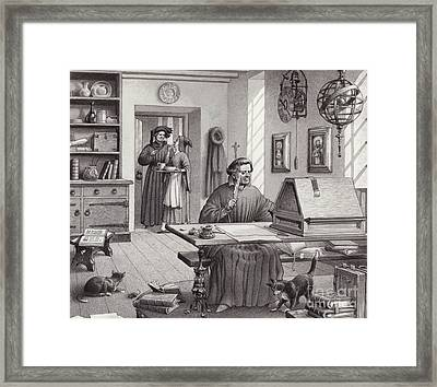 Cosimo Medici Sitting In His Home In Florence Framed Print