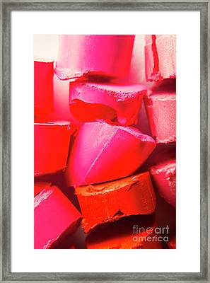 Cosmetic Abstract Framed Print