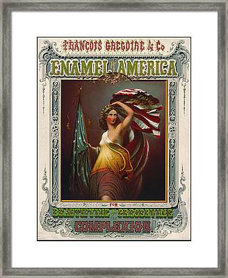 Cosmetics Ad 1866 Framed Print by Padre Art
