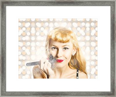 Cosmetics Makeover Pin Up Framed Print by Jorgo Photography - Wall Art Gallery