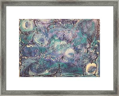 Cosmic Abstract Framed Print by Gallery Messina