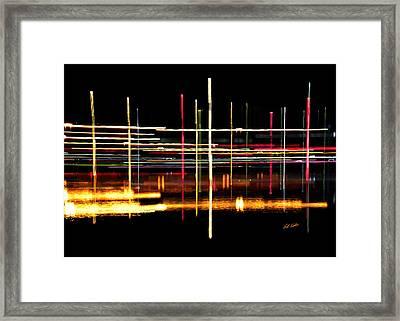 Cosmic Avenues Framed Print