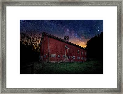 Framed Print featuring the photograph Cosmic Barn by Bill Wakeley